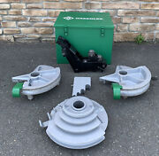 """Greenlee 555 Hydraulic Pipe Bender 1/2""""-2"""" Emt Shoes And Rollers Nice Shape 3"""
