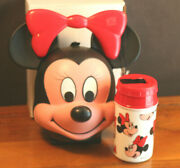 Disney's Aladdin Minnie Lunch Kit With Thermos With Tag