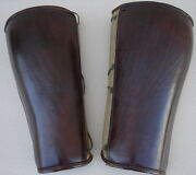 Original Ww1 Usmc Marine Aviation Officer/nco Flyers Leather And Canvas Puttees