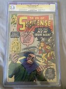 Tales Of Suspense 48 Cgc 2.0 Ss Stan Lee Signed 1st Mr. Doll 1st New Armor