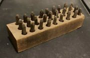 Vintage Nms Co Machinist Steel Letter Punch Marking Stamping Set Box Tool