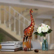 Metal Figuring Giraffe Sculpture Iron Statues Articles Home Office Indoor Outdoo
