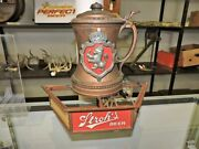 Vintage Stroh's Beer Plastic Lighted Stein Advertising Sign Wall Art