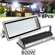 8x 800w Led Flood Light Cool White Camping Outdoor Lighting Security Wall Lamp