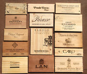 Wood Wine Box 14 Panel Lot Crate Lids And Ends Napa French. Cellar Wall