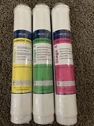 Pure Blue H2o Filter 3pc Reverse Osmosis Filter System Replacement Filters New