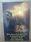 If Any Man Seeks Greatness Ask For Truth 1970and039s Vintage Mini Poster Invg6704