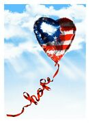 Mr. Brainwash Hope Independence Day Print Signed Numbered Limited Flag Balloon