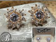 Vintage Suzanne Somers Cz Cluster Earrings 925 Sterling Silver Nib Estate