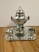 United Coffee Maker Percolator Set 840 W Cord 10 Cup Vintage Tested - Vg Cond.