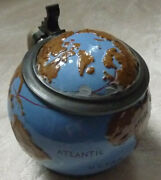 Character Stein Globe By Hanke Ship Corcovado Hapag Pre 1914 Stoneware