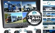 10.1 1080p Backup Camera Monitor And Built-in Dvr For Rv Truck Trailer 10.1-inch