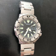 Seiko [discontinued] Black Monster Diver Automatic Verygood 70d