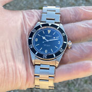 Seiko Nh35 Equipped With Vintage Diver Big Crown 3 6 9 Unused 1949