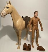Louis Marx Johnny West And Palomino Horse Thunderbolt 1965 Lot W Accessories