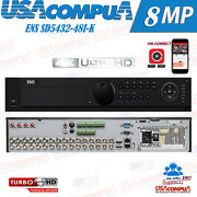 Ens Sd5432-48i-k 32ch All-in-one 4k High Definition Dvr/ H.265pro+/ 4k Output