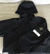 Stone Island Jacket Gore-tex Paclite Size S Black With Hood Bnwt Rrp Andpound675