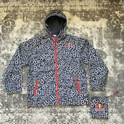 Red Bull Jacket - Athlete Only - Grey / Navy Blue - Snowboarding Hat - Parka