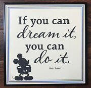 Hallmark Disney Mickey Mouse If You Can Dream It You Can Do It Wall Hanging