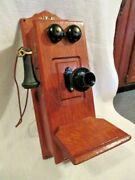 Old Antique Stromberg-carlson Wall Telephone