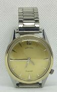 Awesome Vintage Hamilton Electric Converta Ii Watch With 14k Gold Bezel Serviced