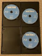 Iron Man 1-3 Trilogy Blu-ray Discs Only + Blank Cases Never Viewed See Info