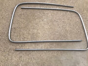 1942 1948 Ford Outside Windshield Stainless Trim Moldings Oem Set/pair