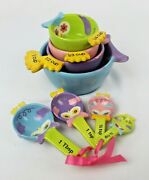 Ganz Owl Ceramic Measuring Cups And Spoons - 8 Piece Set Of Whimsical Owls