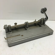 Vintage Wilson Jones Hummer 314 3-hole Paper Punch Industrial Tool Made In Usa