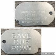 Save Our Powandrsquos Young Americans For Freedom Yaf Metal Military Dog Tag