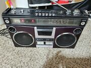 Vintage 80s 1980 Sanyo Stereo Radio Cassette Recorder Boombox M 4500k,for Repear