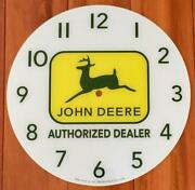 New 14-3/8 John Deere Round Replacement Face For Pam Clock