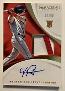 Andrew Benintendi 2017 Immaculate Rpa Rookie Patch Auto Rc 06/99 Royals Red Sox