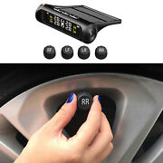 Solar Tpms Lcd Car Tyre Pressure Monitoring System Tool For Rv Trailer Alarm