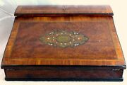 Antique French Napoleon Iii Marquetry Inlay 13 Ecritoire Writerand039s Box Boulle