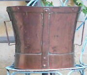Late 18th Century 12 Large Antique French Copper Rustic Pot