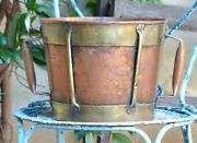 Fantastic Copy Of 18th Century 11 Large Vinatge French Copper Rustic Pot Signed