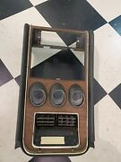 Ford 1971-73 Mustang Mach 1 Center Dash Panel Deluxe Interior 3 Gauge Cluster
