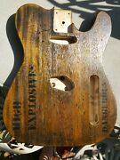 Telecaster Tele Body Rustic Maple Barncaster Crate Lid Style Relic