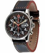 Zeno-watch Herrenuhr X-large Pilot Chronograph-date Special P557tvdd-a15
