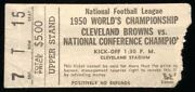 Rare 1950 Nfl Championship Football Ticket - Los Angeles Rams @ Cleveland Browns