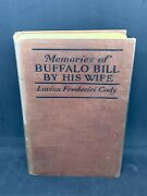 Memories Of Buffalo Bill By Wife Louisa Frederici Cody 1919 1st First Edition