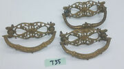 Lot Of 3 Vintage Furniture Drawer Pulls Bail Type Cast Brass T35