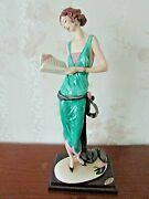 G. Armani Figure Figurine Statue Sculpture Lady With Book Limited Italy
