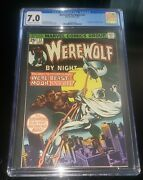 1975 Marvel Werewolf By Night 33 -cgc 7.0 2nd Appearance Of Moon Knight