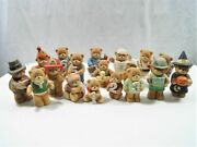 Lot Of 18 Vintage Enesco Lucy Rigg Lucy And Me Bears Figurines 1985 1984
