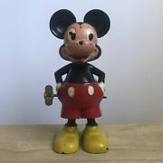 Vintage Micky Mouse With Working Wind Up Spinning Tail Marx Toys W.d.p.andnbsp