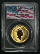 1998 50 Fifty Dollar Gold Maple Leaf Pcgs 9-11-01 Wtc Ground Zero Recovery