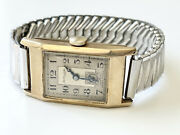 Antique Thomas Russell And Son 9kt Yellow Gold Wrist Watch For Repair