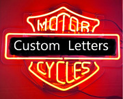 Custom Letters For Motor Cycles Real Neon Sign Beer Light Home Decor Signs